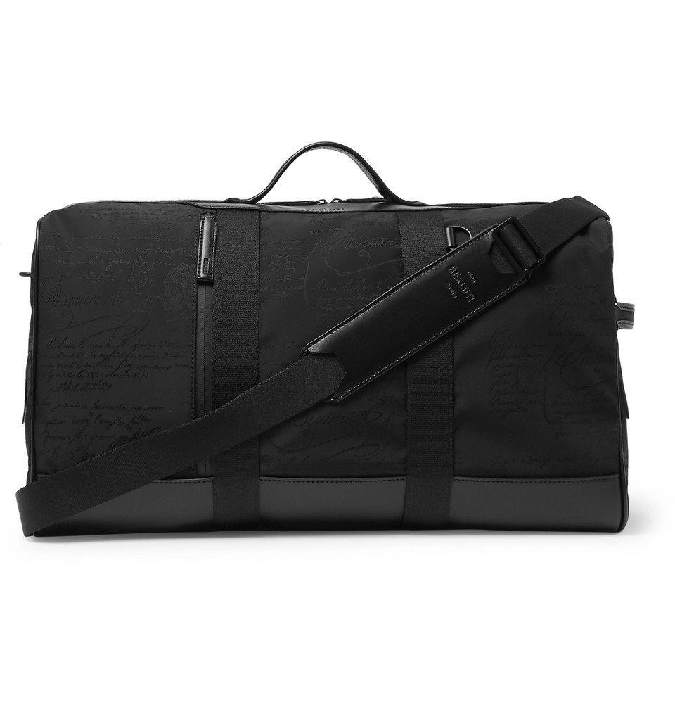 Photo: Berluti - Eclipse Scritto Leather-Trimmed Nylon Holdall - Black