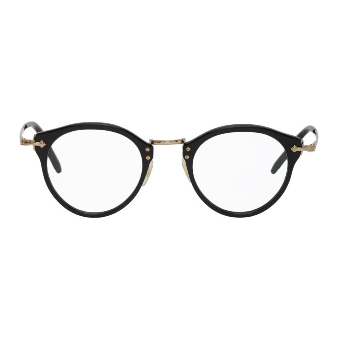 Photo: Oliver Peoples Black and Gold OP-505 Glasses