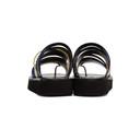 3.1 Phillip Lim Black and White Multi Stripe Eva Sandals
