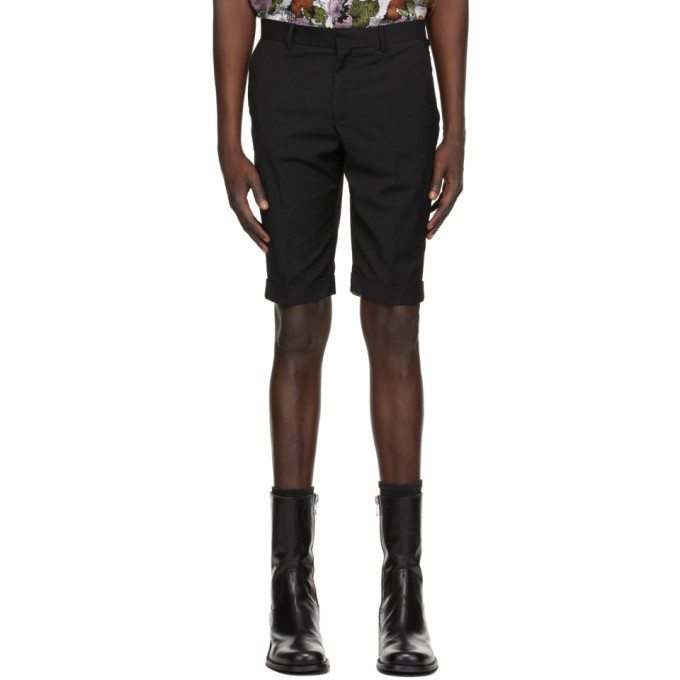 Photo: Situationist Black Wool Classic Shorts
