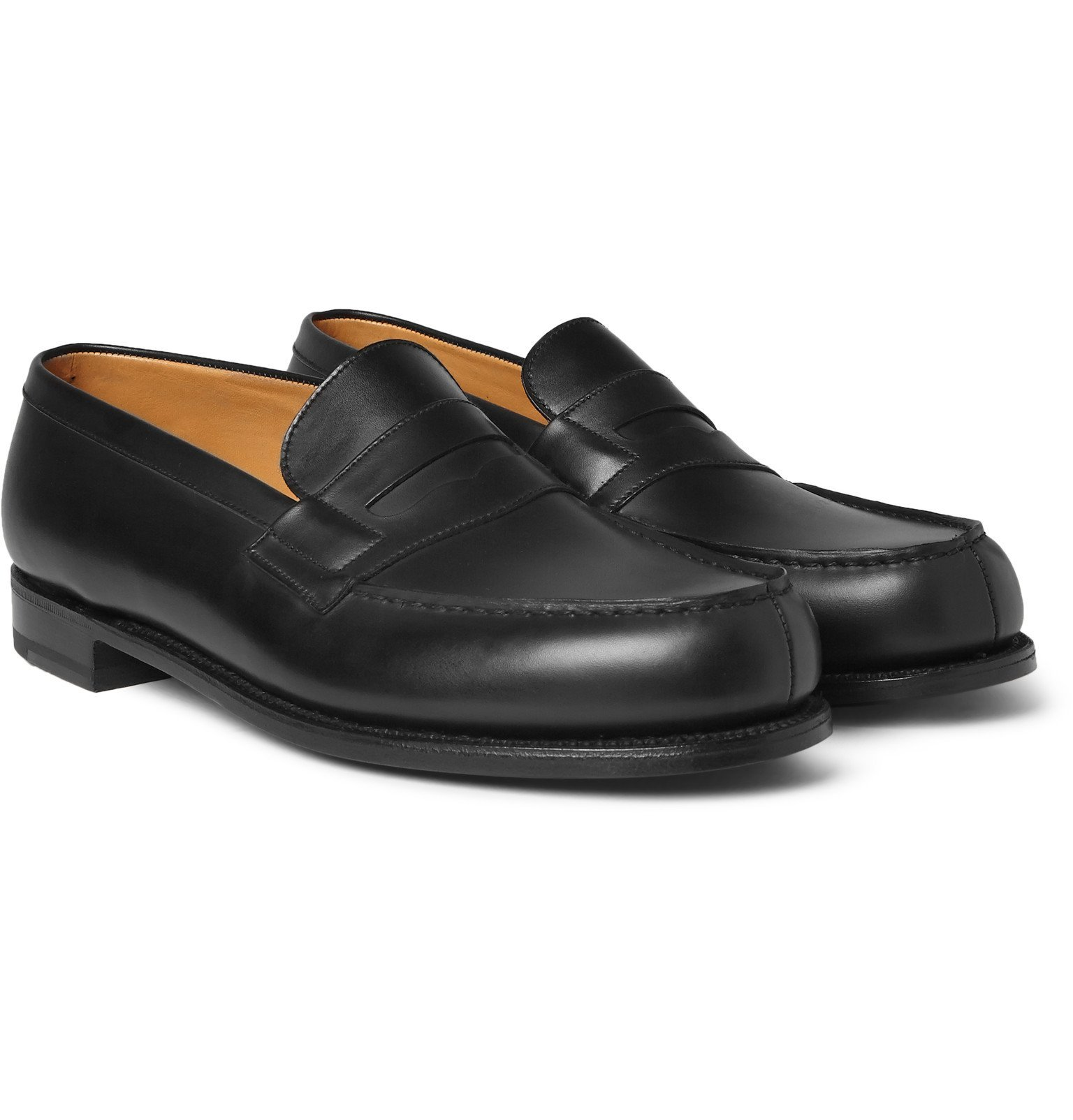 Photo: J.M. Weston - 180 The Moccasin Leather Penny Loafers - Black