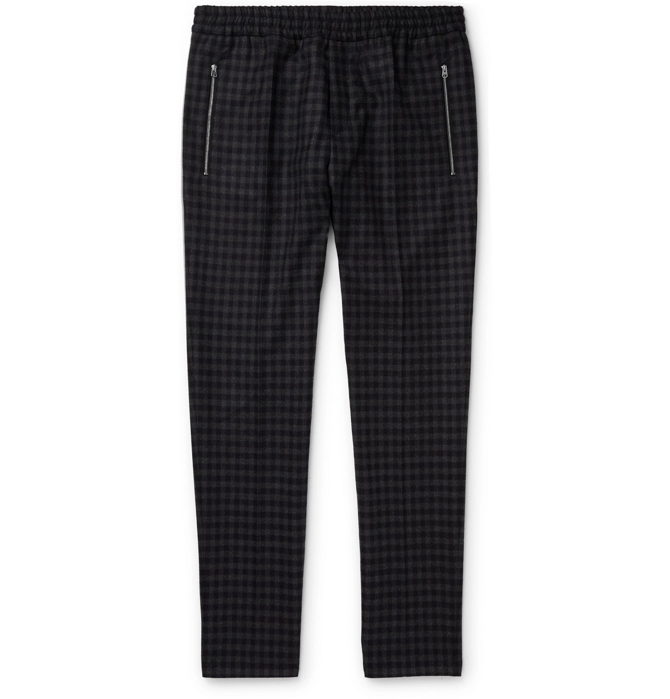 Photo: Stella McCartney - Piet Slim-Fit Tapered Checked Wool Trousers - Gray