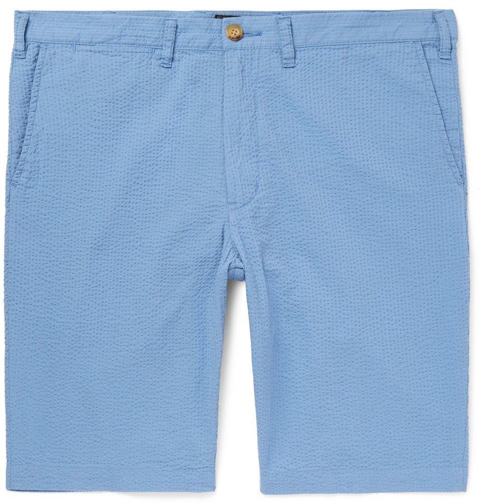 Beams Plus Ivy Slim Fit Cotton Seersucker Shorts Men Light