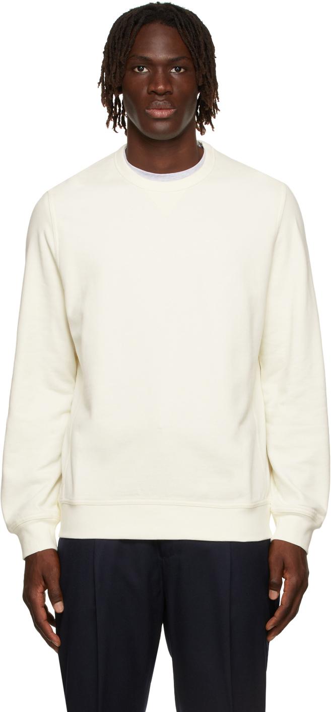 Photo: Brunello Cucinelli Off-White French Terry Sweatshirt