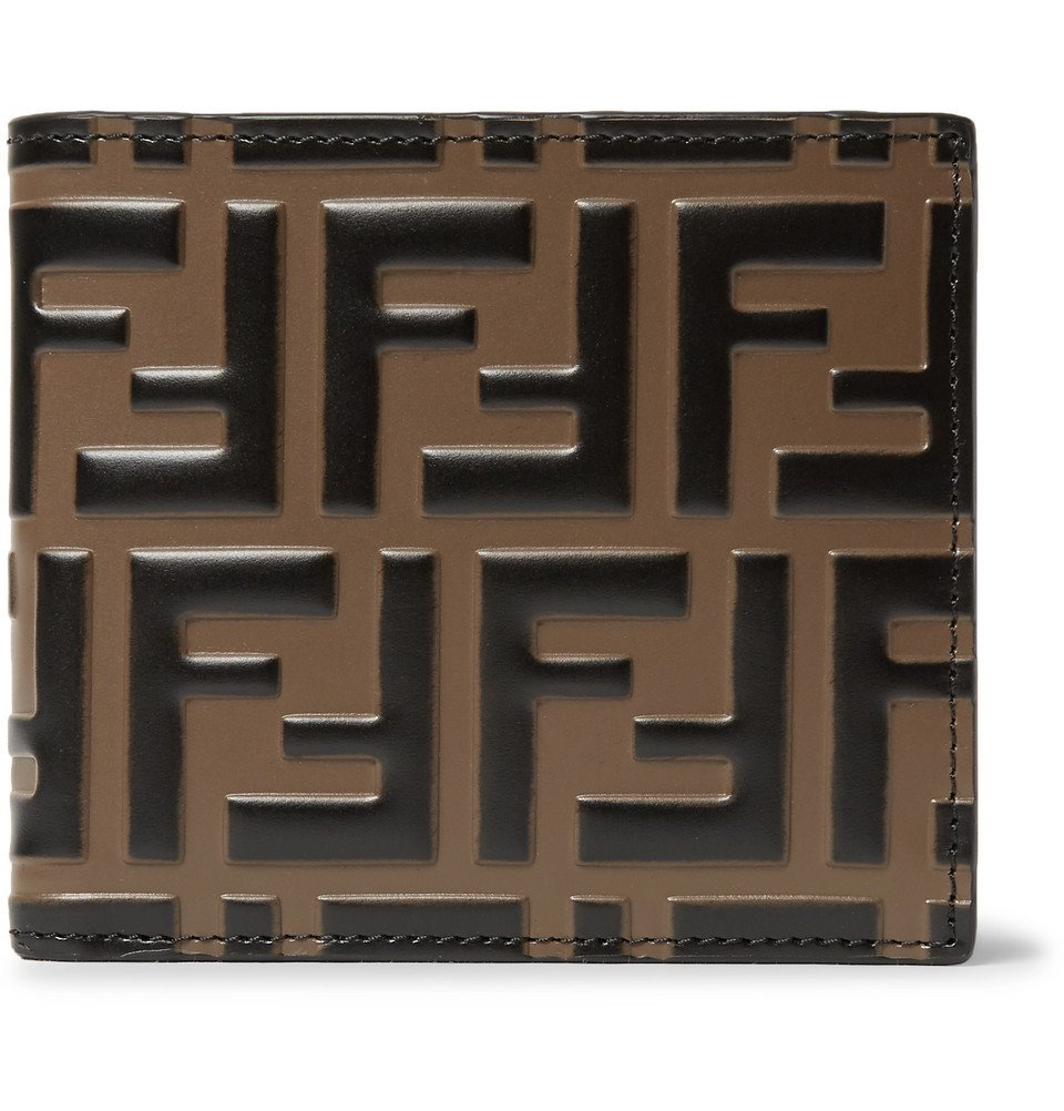 Photo: Fendi - Logo-Embossed Leather Billfold Wallet - Brown