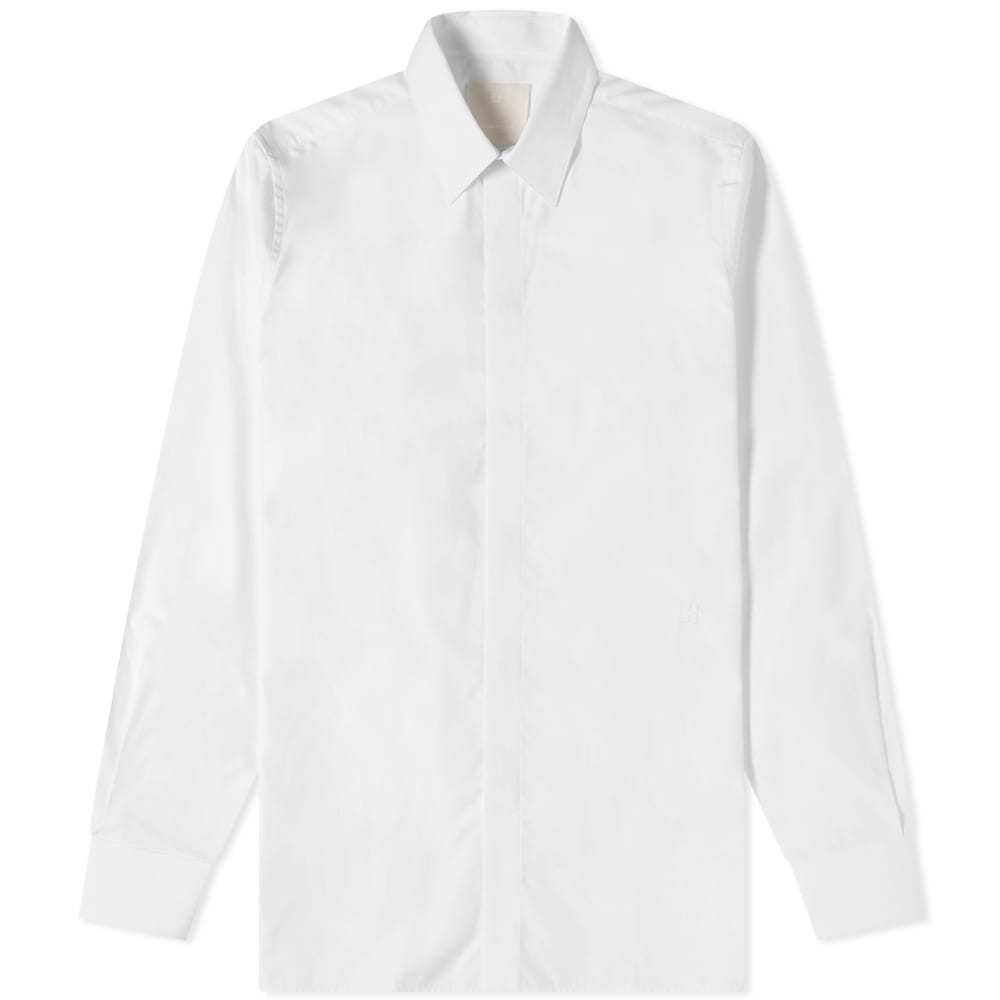 Photo: Givenchy 4G Embroidered Poplin Shirt