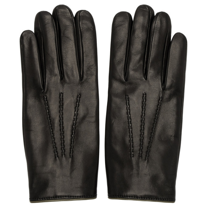 Photo: Dolce and Gabbana Black Cashmere Lined Gloves