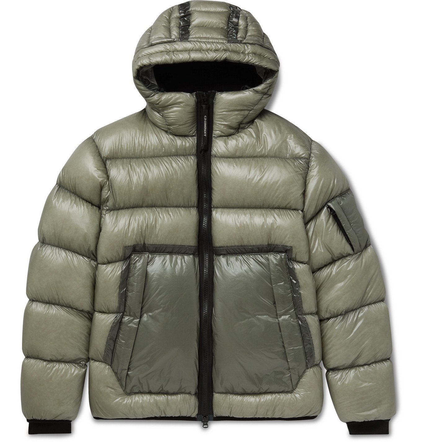 Photo: C.P. Company - Quilted Shell Hooded Down Jacket - Gray