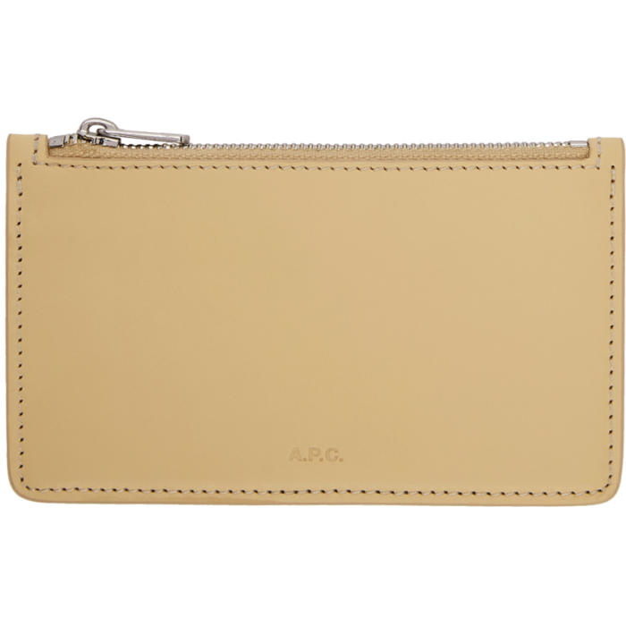 Photo: A.P.C. Beige Walter Zip Pouch
