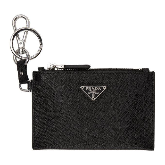 Photo: Prada Black Saffiano Travel Pouch Keychain