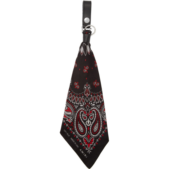 Photo: Amiri Black and Red Bandana Keychain