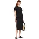 3.1 Phillip Lim Black Shoulder Slit T-Shirt Dress