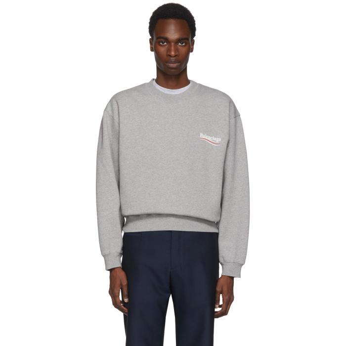 Photo: Balenciaga Grey Campaign Logo Sweatshirt