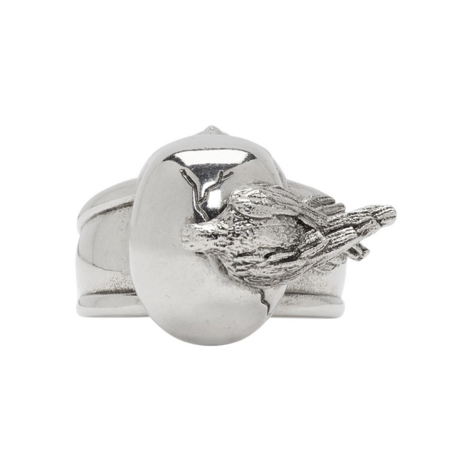 Photo: Alexander McQueen Silver Raven and Skull Ring