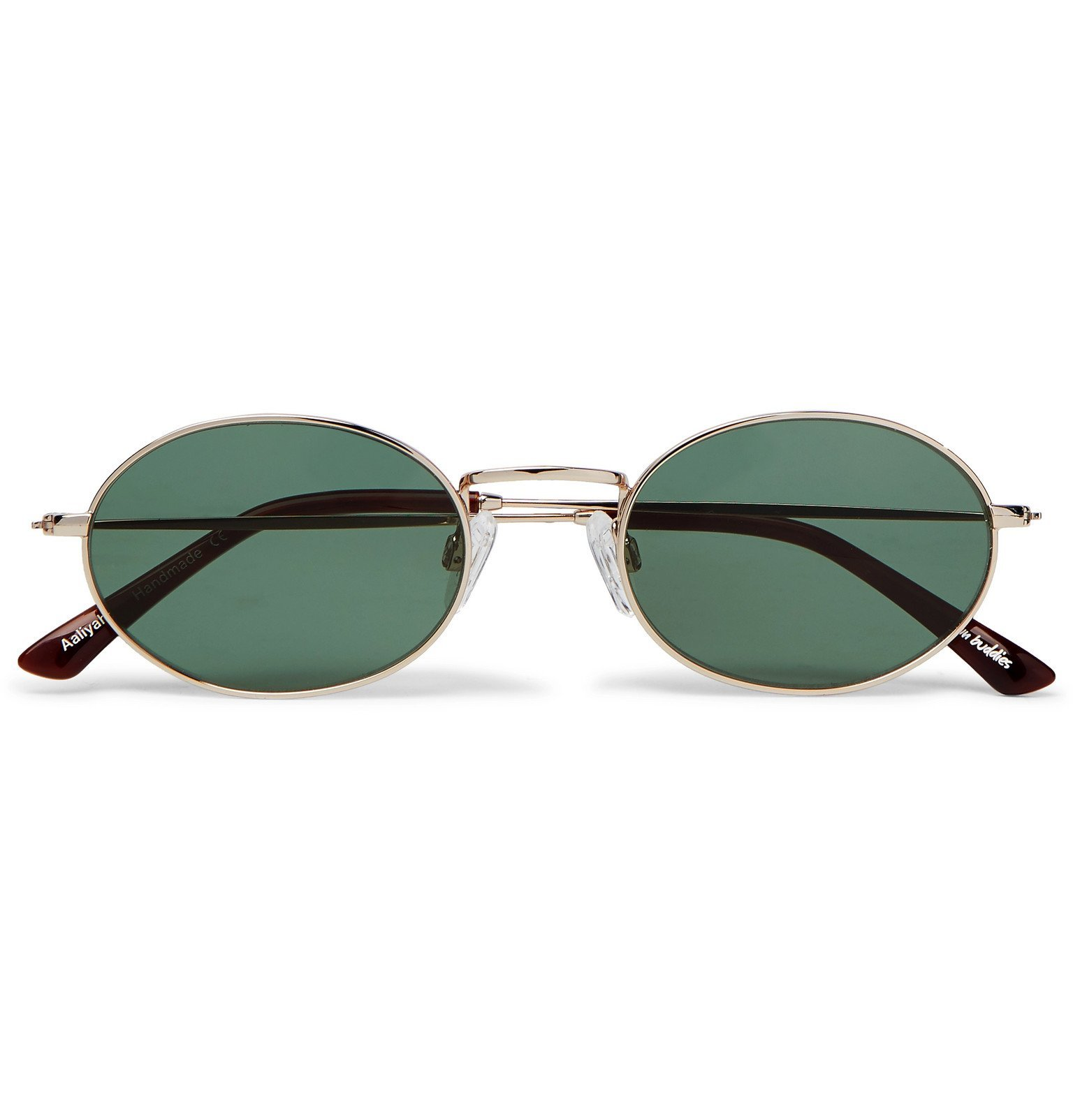 Photo: Sun Buddies - Aaliyah Oval-Frame Gold-Tone and Tortoiseshell Acetate Sunglasses - Gold