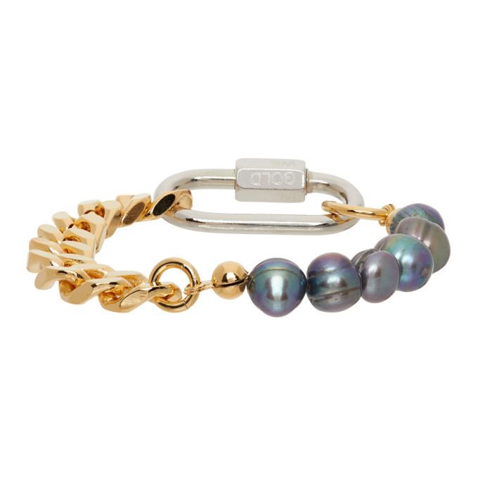 Photo: IN GOLD WE TRUST PARIS SSENSE Exclusive Gold Cuban Link Bracelet