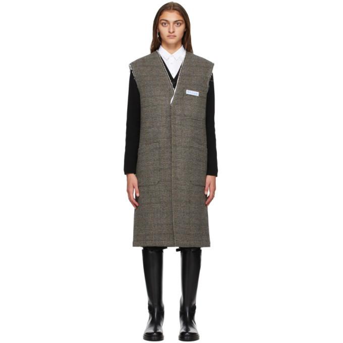 Photo: Raf Simons Black Wool Sleeveless Labo Coat
