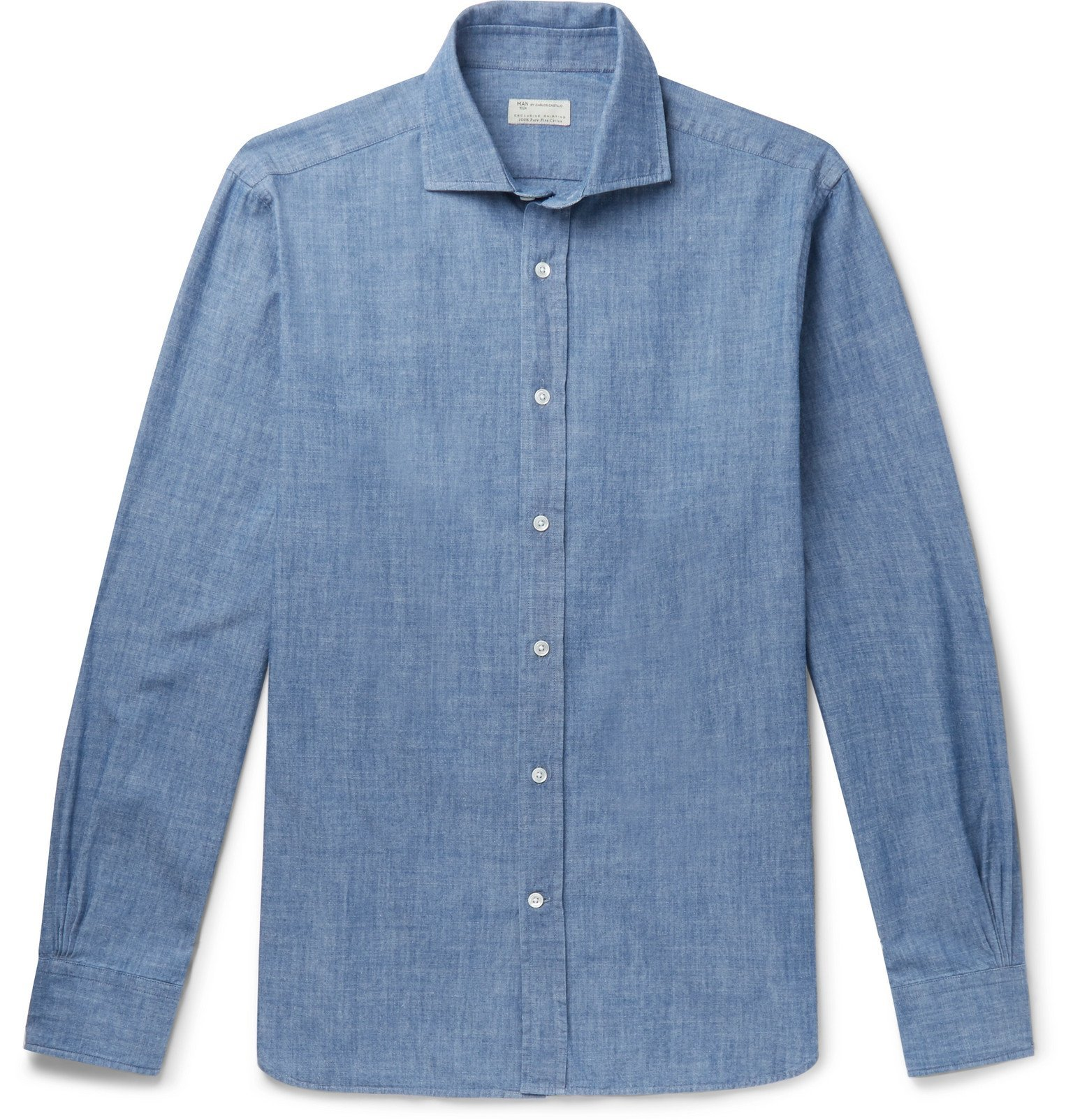 Photo: MAN 1924 - Cotton-Chambray Shirt - Blue
