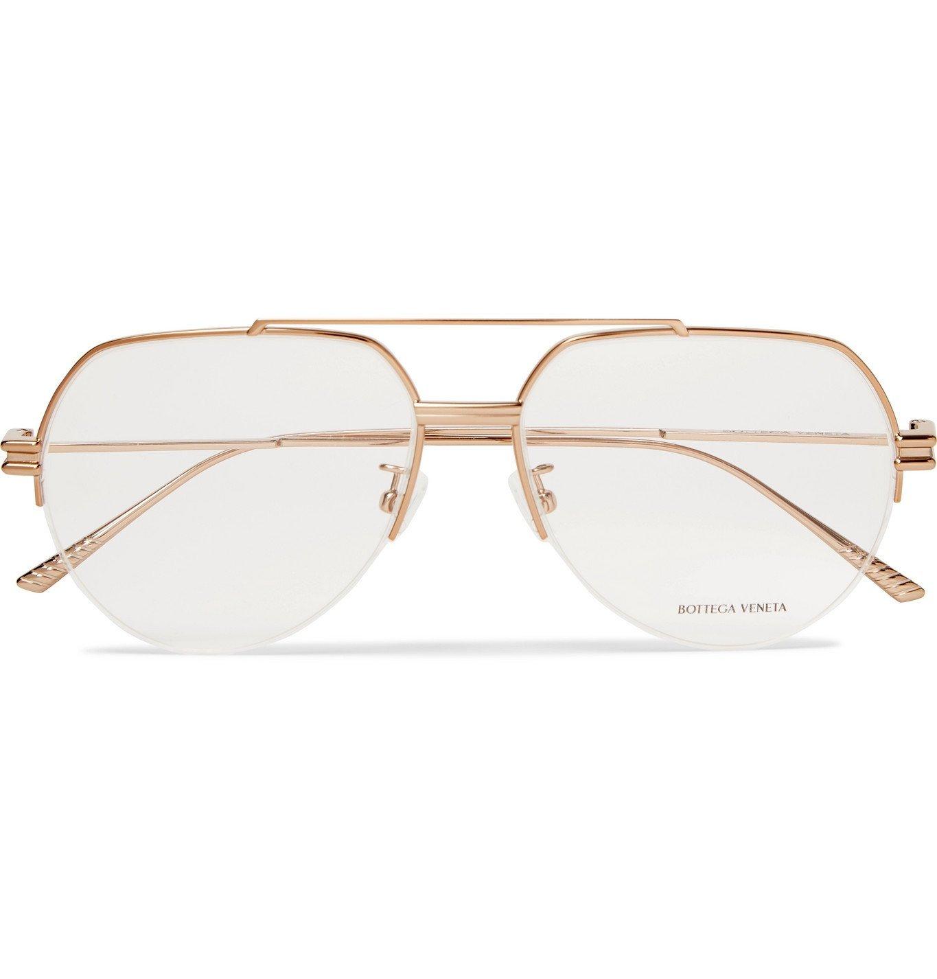 Photo: Bottega Veneta - Aviator-Style Gold-Tone Optical Glasses - Gold