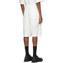 3.1 Phillip Lim Off-White Poplin Washed Shorts