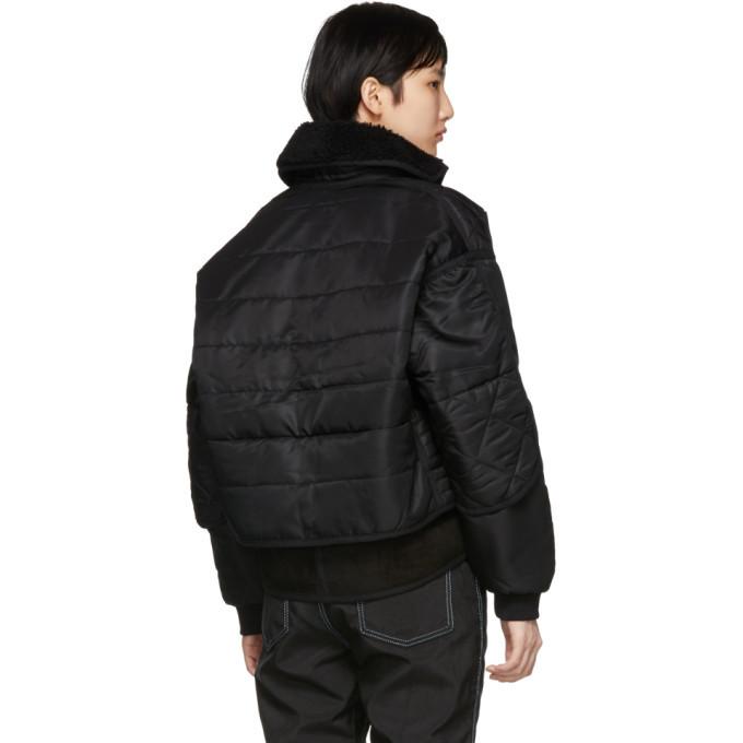 032c Black Cosmo Bomber Jacket