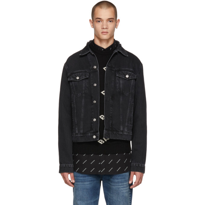 Photo: Balenciaga Black Denim Campaign Jacket