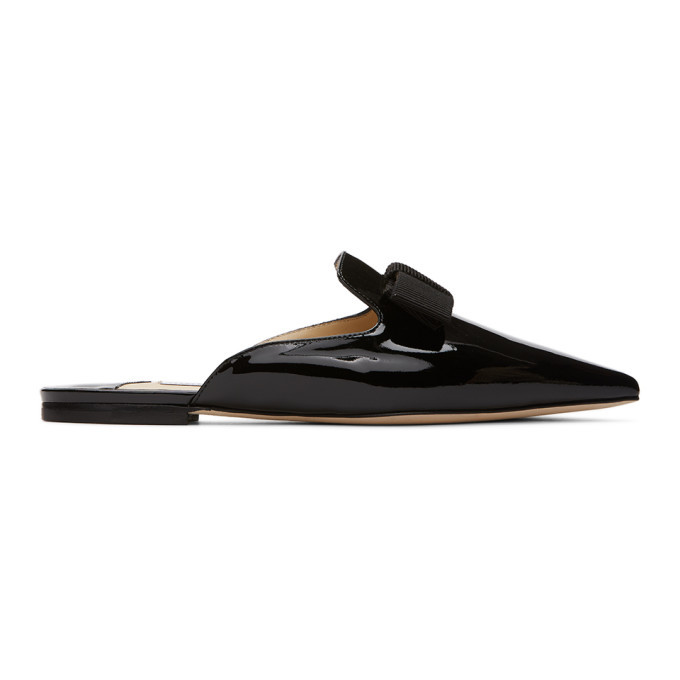 Photo: Jimmy Choo SSENSE Exclusive Black Patent Galaxie Loafers