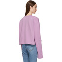 Acne Studios Pink Odice Logo Sweatshirt