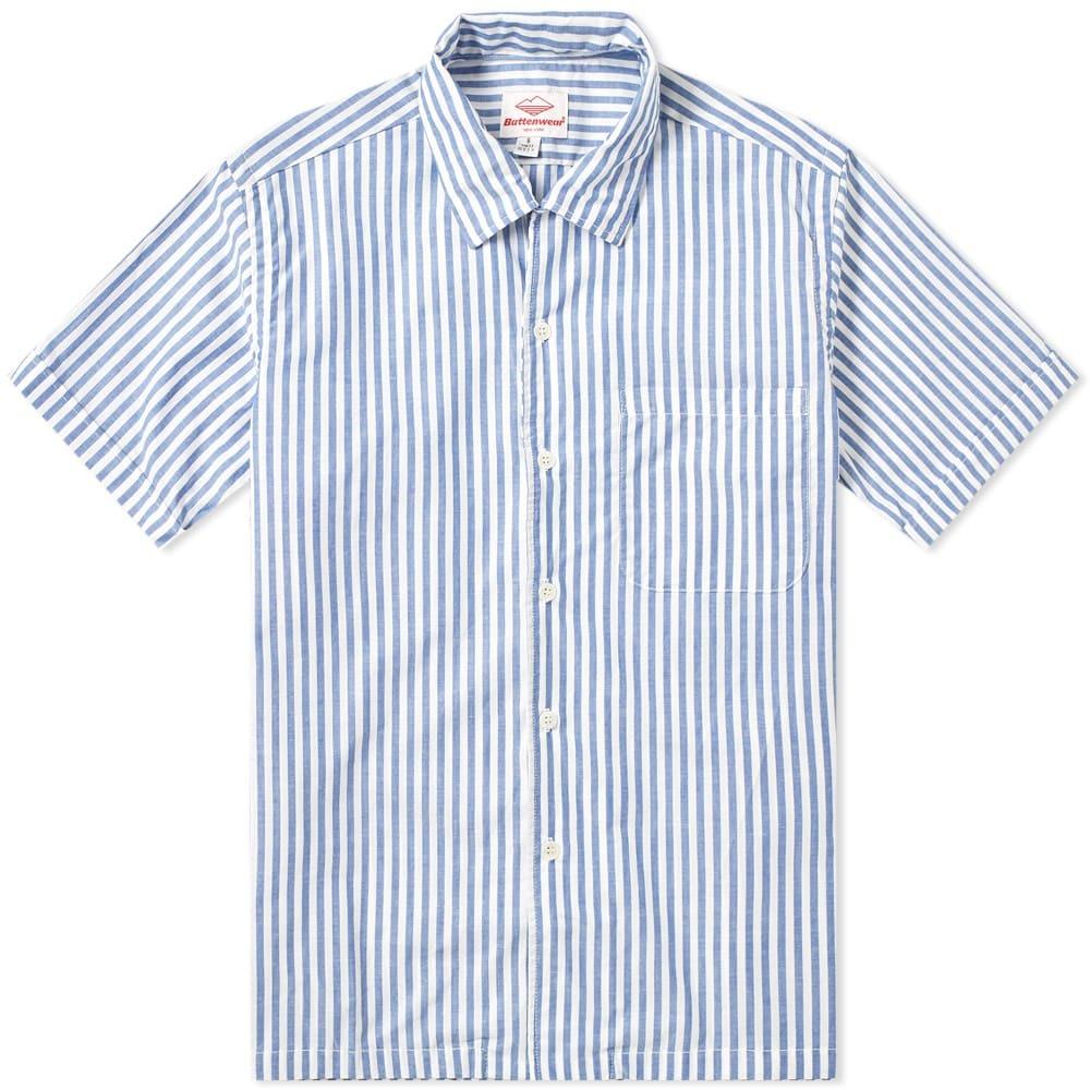 Photo: Battenwear Zuma Shirt Blue Stripe