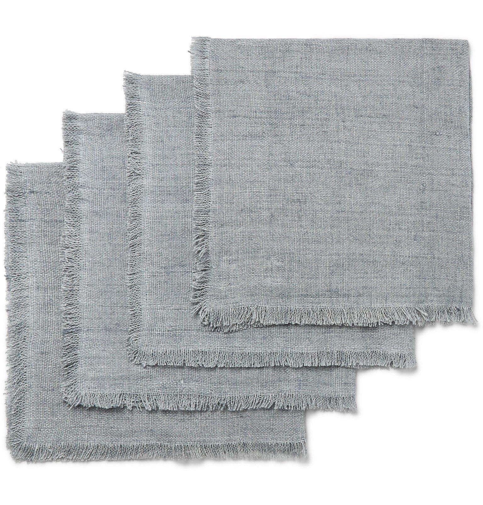 Photo: Roman & Williams Guild - Set of Four Linen Napkins - Gray