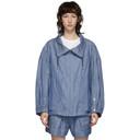 3.1 Phillip Lim Blue Chambray Utility Sport Jacket