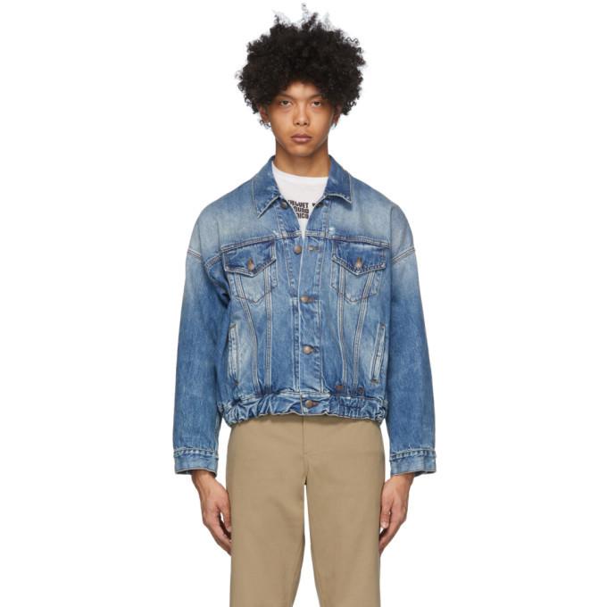 Photo: R13 Blue Denim Oversized Cinch Waist Trucker Jacket