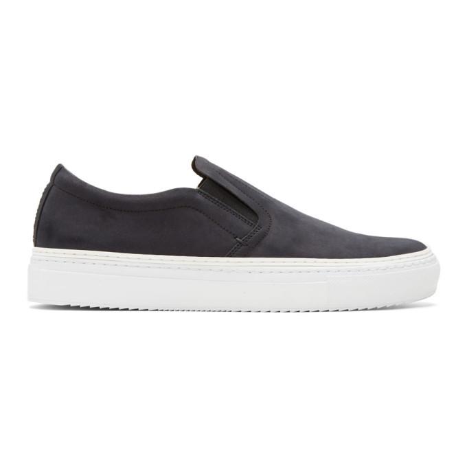 Photo: No.288 Black Houston Slip-On Sneakers