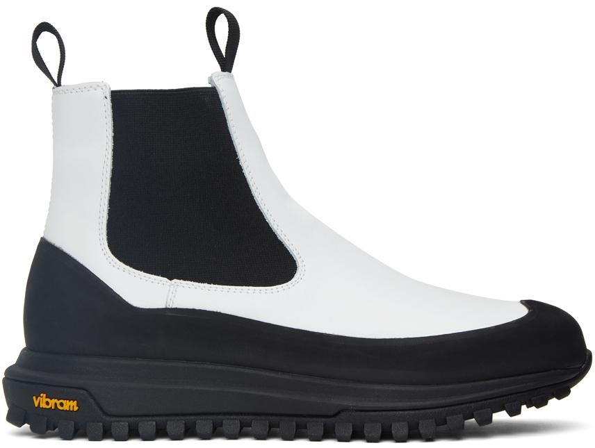 Photo: Diemme SSENSE Exclusive Off-White Ramon Chelsea Boots