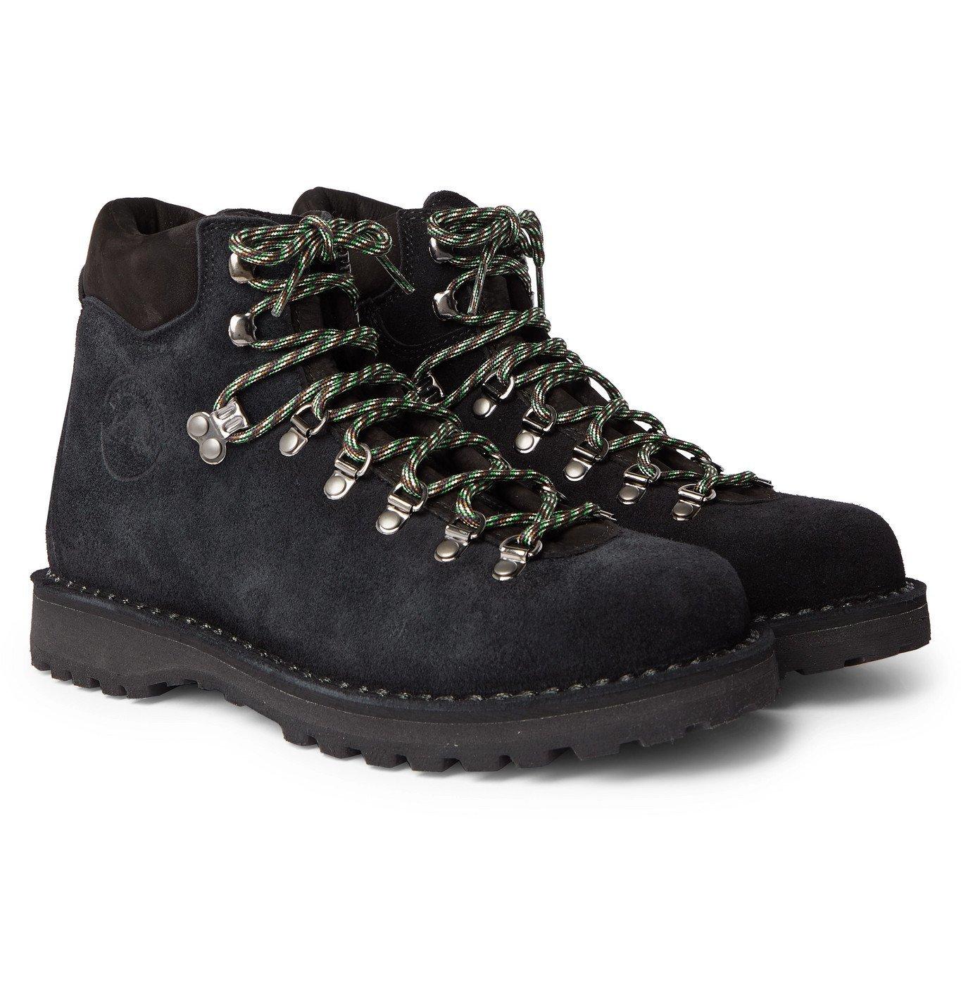 Photo: Diemme - Roccia Vet Leather-Trimmed Suede Hiking Boots - Black