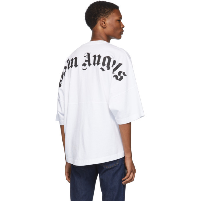 Palm Angels White Logo T-Shirt