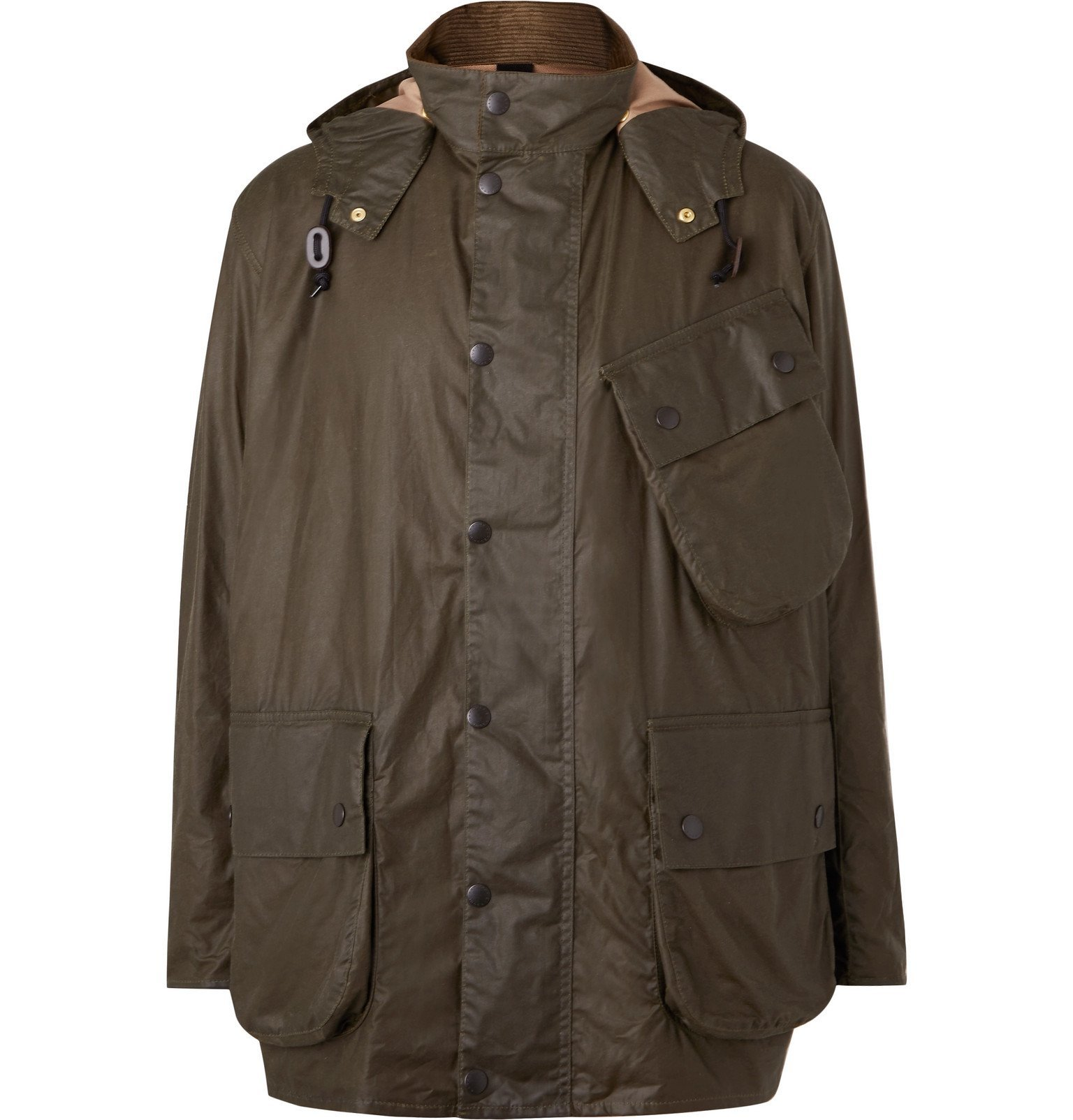 Photo: Barbour - Margaret Howell Waxed-Cotton Hooded Jacket - Green
