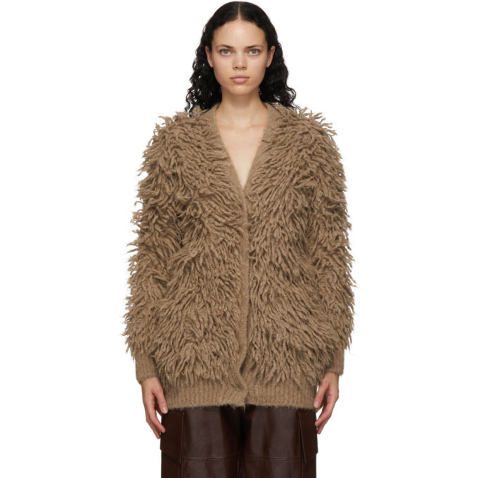 Stella McCartney Brown Alpaca Fuzzy Cardigan