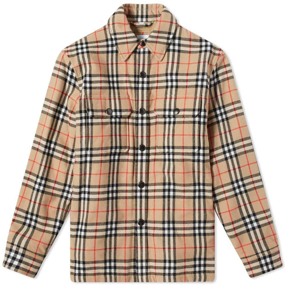 Photo: Burberry Calmore Fleece Lined Shirt Jacket