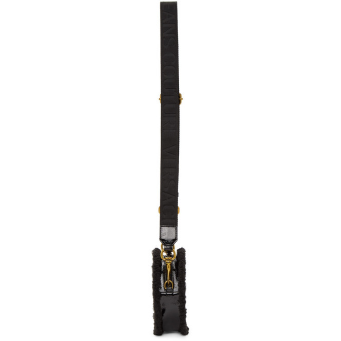 Versace Jeans Couture Black Faux-Leather Sherpa Bag