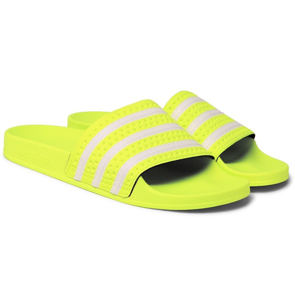 d7b6ff4a6601 adidas Originals - Adilette Textured-Rubber Slides - Men - Yellow ...