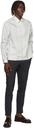 Dunhill White Polka Dot Zip Shirt