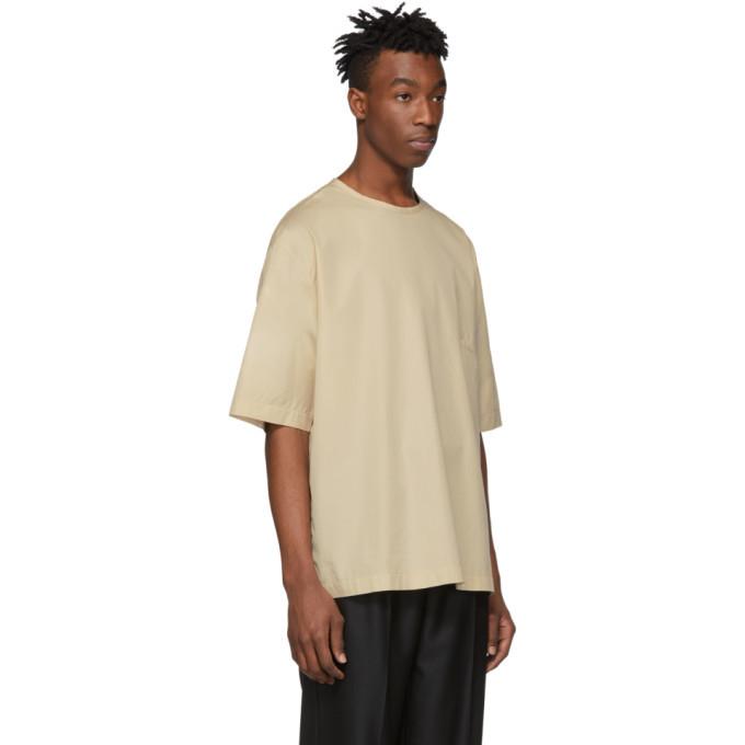 Lemaire Beige Poplin T-Shirt
