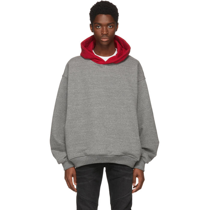 Photo: Fear of God Grey and Red Everyday Hoodie