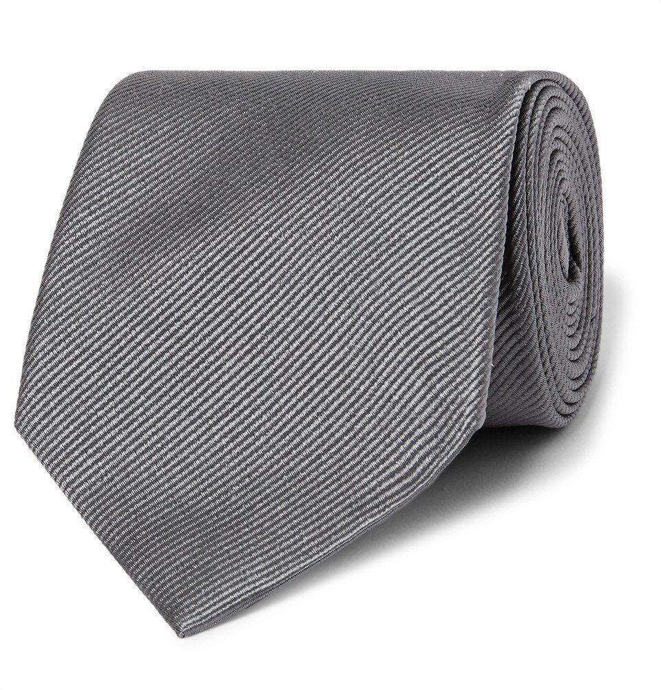 Giorgio Armani - 8cm Silk-Twill Tie - Men - Gray