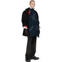 Raf Simons Black Double Button Short Caban Coat
