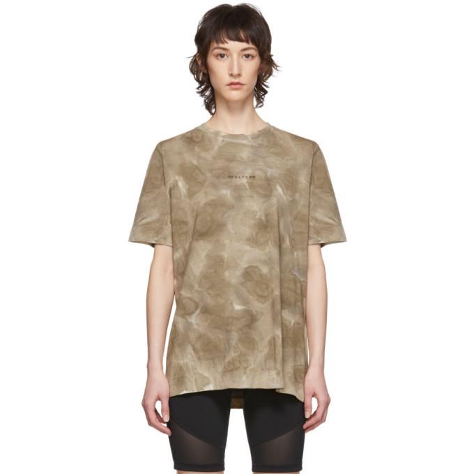 Photo: 1017 ALYX 9SM Khaki Tie-Dye Logo T-Shirt