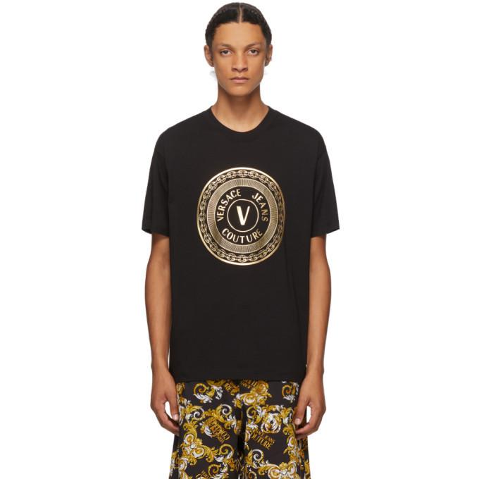 Versace Jeans Couture Black Emblem T-Shirt