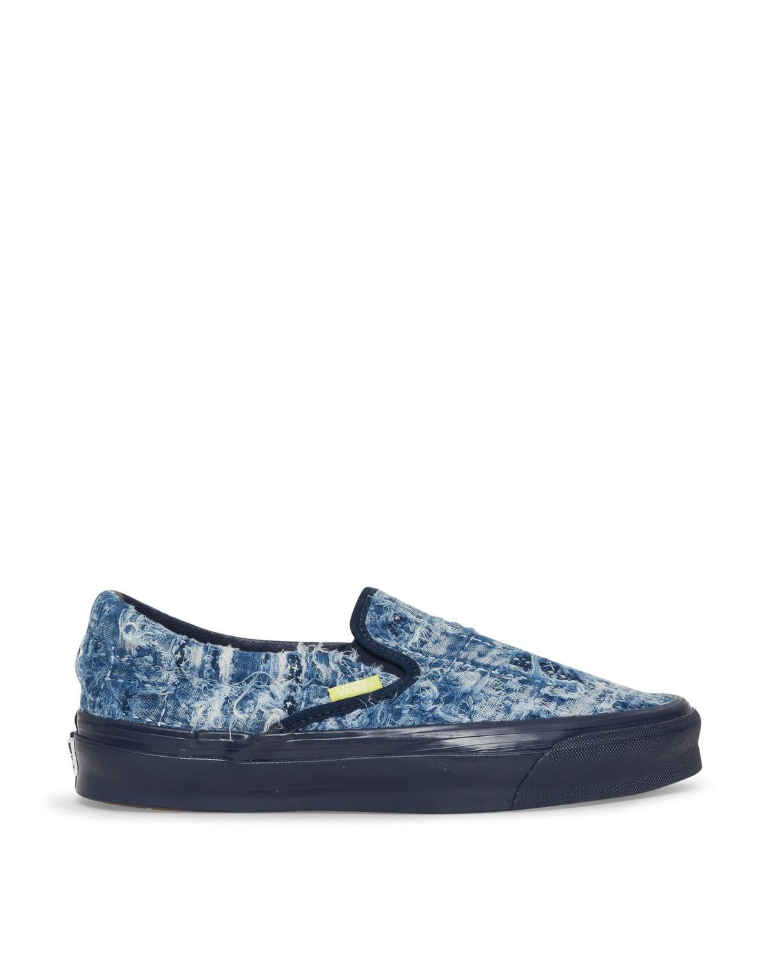 Photo: Vans Fdmtl Og Classic Slip On Lx Sneakers Indigo/Distressed