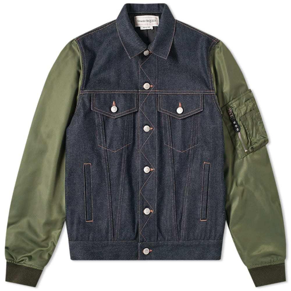 Photo: Alexander McQueen MA-1 Sleeve Denim Jacket